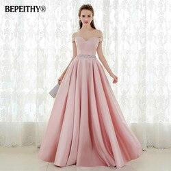 Vestido De festa A-line Abito Lungo Da Sera Vintage Off The Prom Dresses  Spalla 5e016144dc2