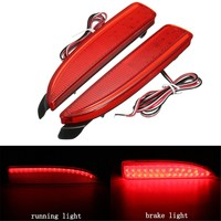 2Pcs LED Rear Bumper Reflector Tail Brake Stop Running Light For Mazda 6 ATENZA 2014 2016