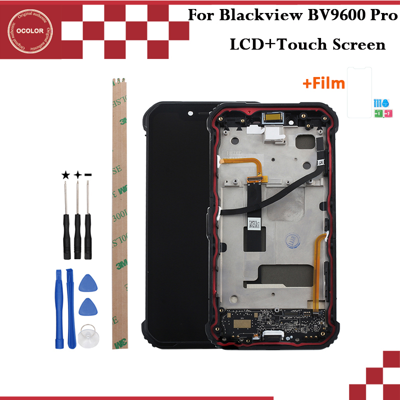 ocolor For Blackview BV9600 Pro LCD Display and Touch Screen With Frame 6 21 Phone Accessories