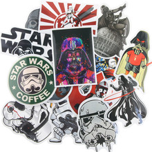 25 Kinds Star Wars Waterpoof Fuel Cap Creative Sticker For Skateboard Laptop Luggage Fridge Phone Styling Home Toy Sticker(China)