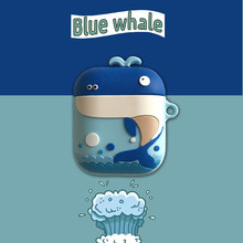 Cartoon Whale dinosaur Earphone Case For AirPods Protective Cover Accessories soft silicon for Apple Airpods Charging Bags