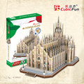 Cubicfun 3D paper building model DIY toy gift The simulation of paper cardboard puzzle difficulty Italy Church of Duomo MC210h