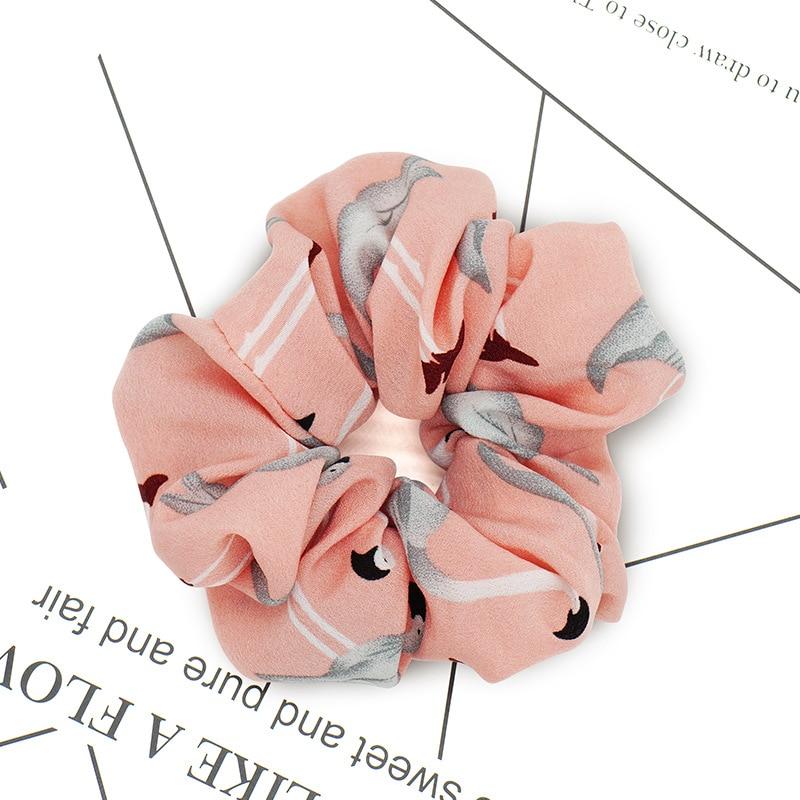 Flamingo Elastic Head Hair Band Accessories Elegant Women Ribbon Bow Headband Yarn Hair Rope Headwear in Women 39 s Hair Accessories from Apparel Accessories