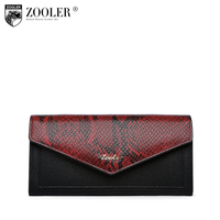 ZOOLER 2018 NEW Genuine Leather Women Wallet Crocodile Pattern Cow Leather Wallet Fashion Women 4 colour Option Clutches#w103