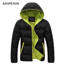 AIOPESON Winter Parkas Men High Quality Casual Slim Fit Mens Jackets And Coats Thick Parka Men Warmth Solid Outwear Mens Parka