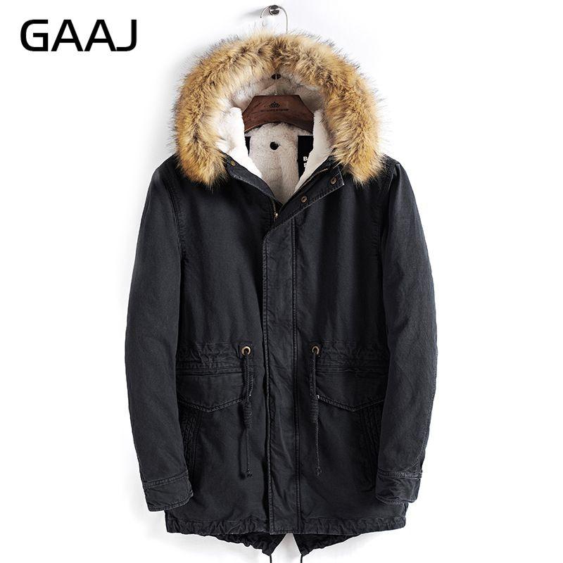 GAAJ ใหม่ผู้ชายหนาขนแกะผ้าฝ้าย 100% หลวมพอดีฤดูหนาว   40'C อุ่นทหาร Amry Navy Denim กางเกงยีนส์ HPDJY #-ใน เสื้อกันลม จาก เสื้อผ้าผู้ชาย บน   3