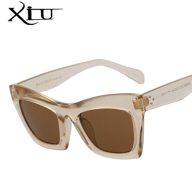 1dd2afa20 XIU Borboleta Grande Quadro Mulheres Óculos De Sol Marca Designer Retro  Óculos Da Moda para As