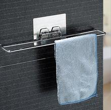 Stainless steel home seamless vacuum suction cup towel rack can be washed paste the longer firm
