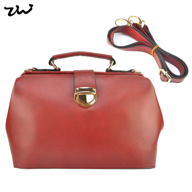 2016 Autumn Women's Handbag Vintage Doctor Bag Women Messenger Bags Shoulder Bags VK1361