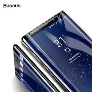 Image 1 - Baseus Screen Protector Voor Samsung Galaxy Note 8 Note8 3D Arc Gehard Glas Voor Galaxy Note 8 Volledige Beschermende Glas film