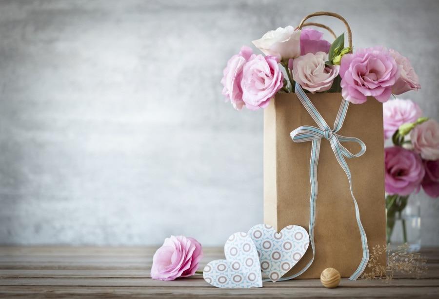 Laeacco цветы сумка Сердце Papercut сцены фотографии фонов винил фото фон пользовательские Фоны реквизит для Аксессуары для фотостудий ...