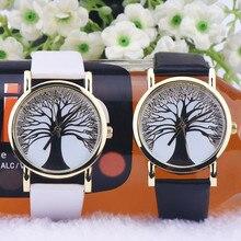 New Women Lady Wishing Tree Dial Quartz Analog PU Leather Strap Wrist Watch  стоимость