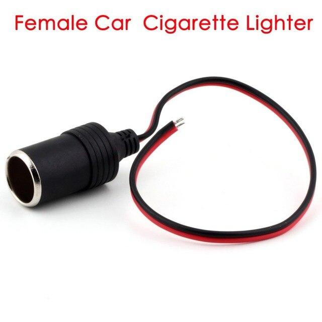 Cimiva DC 12V 24V Car Cigarette Lighter Charger cable 10W 5V 2A  Female Socket Plug Connector Adapter