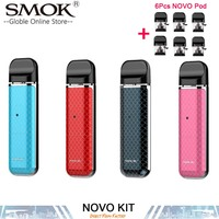 In stock!!!SMOK NOVO Kit 450mAh Novo Device 2ml Pod Vaporizer Electronic Cigarettes Vape Pen Starter Kit VS SMOK INFINIX Fit Kit