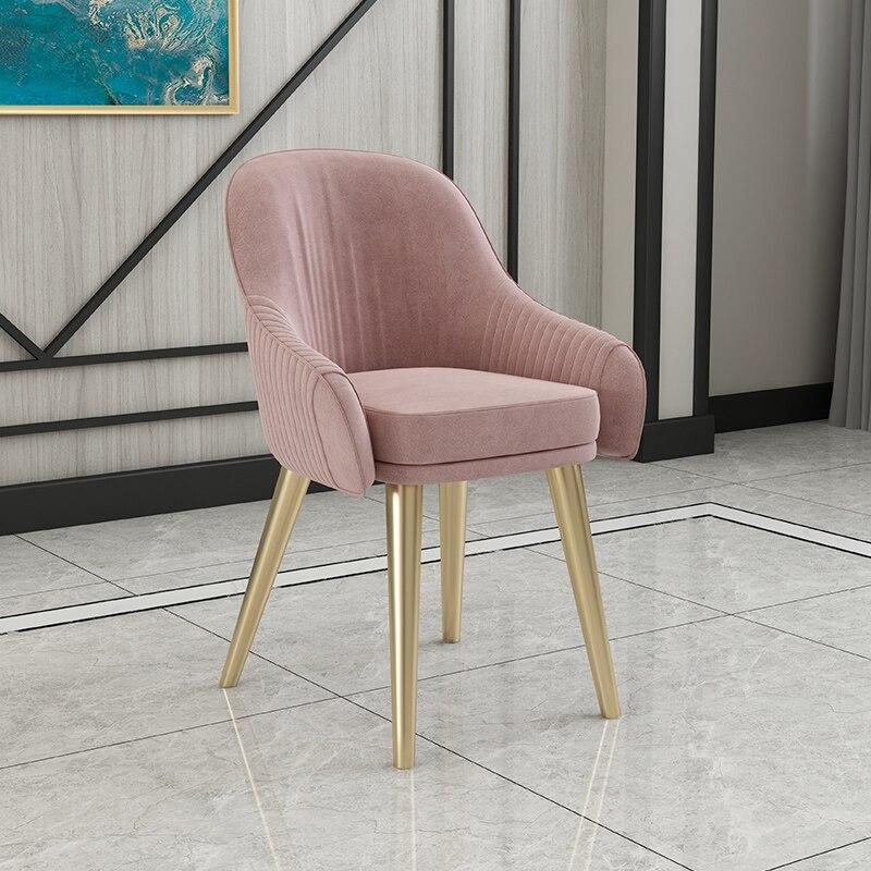 Скандинавский свет роскошный стул для столовой Современный чистый красный стул домашний дизайн ресторана кресло молочный чай кресло для отдыха