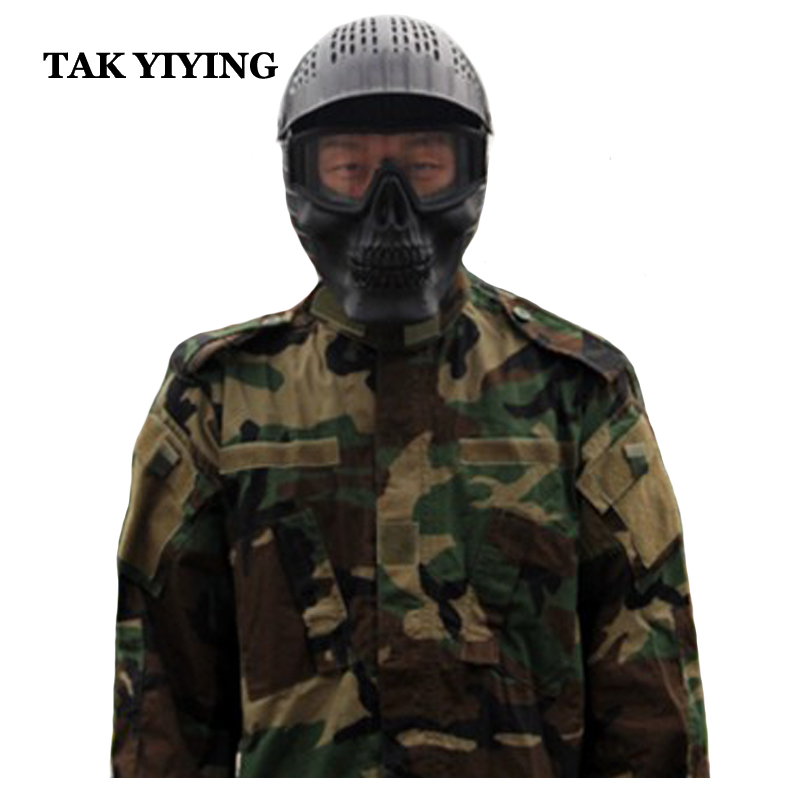 Back To Search Resultshome Tak Yiying Airsoft Anti Fog Mask Cs Paintball Mask Outdoor Army Full Face Airsoft Tactical Mask Camouflage Pure White And Translucent