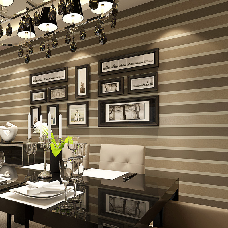 Mural Modern Wall Paper Roll Striped Papel