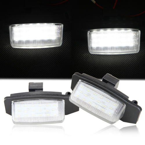 2Pcs Error Free LED License Plate Light for mitsubishi outlander xl (CW) 2006-2012 numbe ...