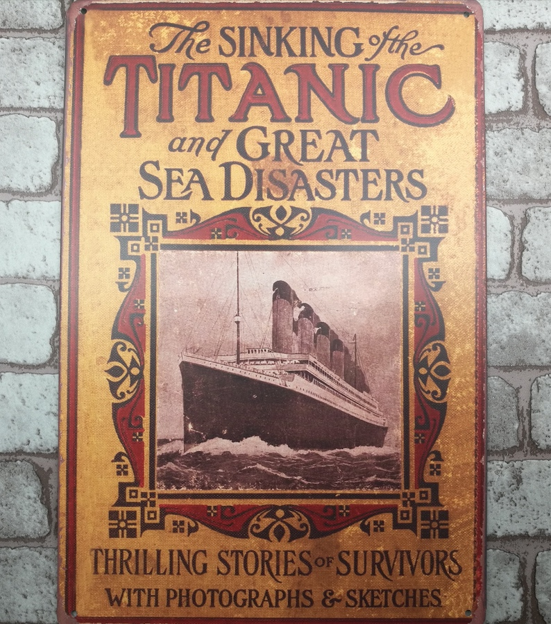1 pc Titanic Sinking ship Love Story Tin Plate Sign plate wall man cave Decoration Art Dropshipping Poster metal in Plaques Signs from Home Garden