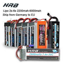 HRB Lipo 3S 4S 11,1 V 14,8 V 5000mah 2S 6S 7,4 V 22,2 V батарея 2200mah 2600mah 3300mah 6000mah T для TRAXXAS 1:10 RC автомобиля FPV лодки