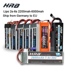 HRB Lipo 3S 4S 11.1V 14.8V 5000mah 2S 6S 7.4V 22.2V bateria 2200mah 2600mah 3300mah 6000mah T dla TRAXXAS 1:10 RC samochód FPV łódź