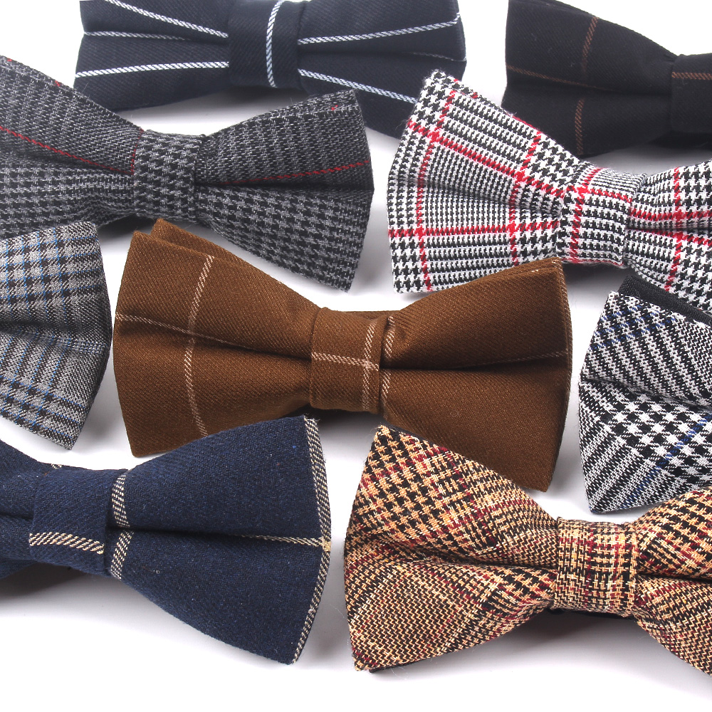 Spot Doro double tie suiting fabric upscale British fashion gentleman bow tie factory outlet