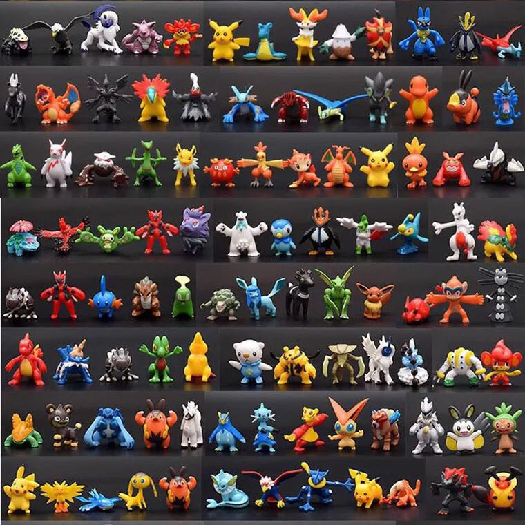 2-3CM Height 144/288 Pieces LOL PVC Doll Action Figure Toys Pokemones Gifts Cute Small Anime Figure Toys For Children 12pcs cute blue lilo stitch resin cartoon figure anime girls boys collectible resin mini 2 3cm toys new lnf