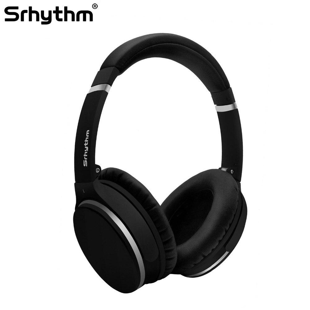 Active Noise Cancelling Casque Sans Fil Bluetooth écouteurs ANC stéréo deep bass Sport Pliable Over Ear Casque microphone