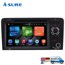 A-Sure 8 Core 2 din 7″ Android 6.0 Car Audio DVD Radio GPS for Audi A3 S3 RS3 2003-2011 With 2GB RAM BT WIFI 32GB ROM OBD DAB+