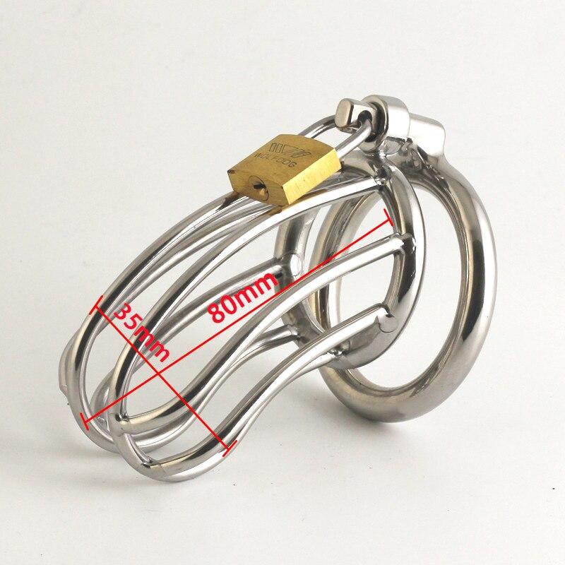 Nuovo Disegno Dispositivo di Castità Maschile in acciaio inox castità giocattoli del sesso per gli uomini pene manica anello Del Pene del pene cintura di castità