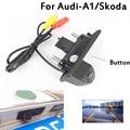 Estacionamento CCD Car Trunk Handle Camera Retrovisor Para Skoda/Octavia/Fabia/Superb/Roomster/Yeti/Audi/A1 Carro cam De Backup com o Botão