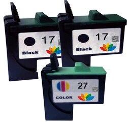 3 paczka kompatybilny 10N0017 10N0027 dla Lexmark 17 Lexmark 27 kaseta z tuszem LM17 LM27 drukarki Z13/Z23/Z24/Z25/Z33/Z34/Z35 drukarki
