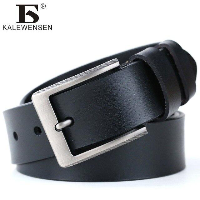 17af9072950 Cowskin en cuir véritable hommes ceintures de luxe marque casual sangle de  mode designer en cuir