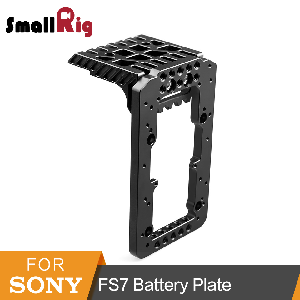 SmallRig Battery Mounting Plate for Sony PXW-FS7 Battery L-Bracket -1792 fittest photo f1d3l l plate l bracket for canon eos 1d3 series markiii canon 1d3 bracket arca swiss rrs sunwayfoto compatible