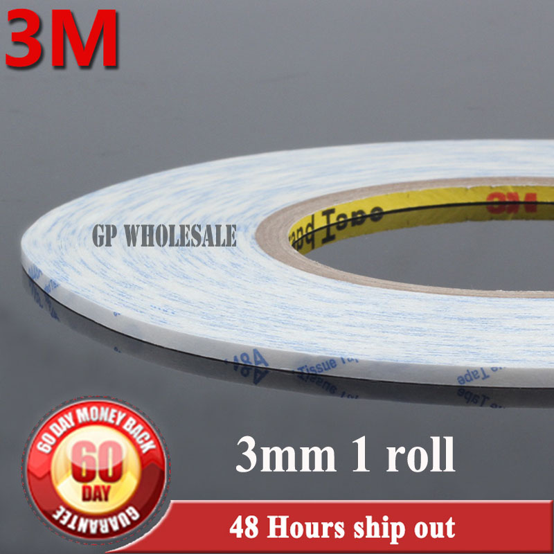 American 3M 9448 Tape Double-sided Tape 3mm*50m White Ultra-Thin MobilePhone Repair Special LCD/Touch Screen Stickers Tape ultra thin 7 touch screen lcd wince 6 0 gps navigator w fm internal 4gb america map light blue