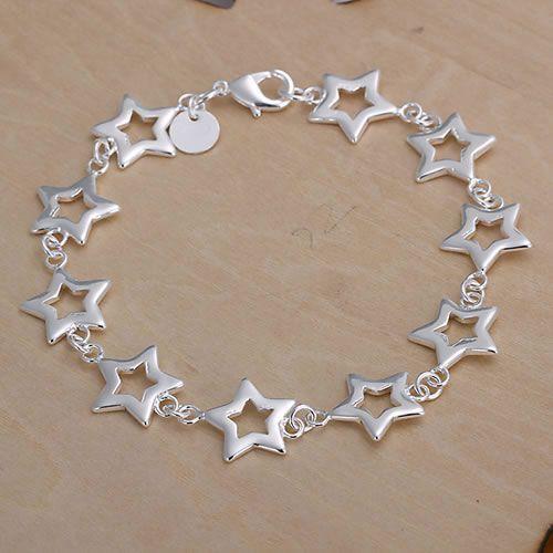 a4f2494aba65c H183 925 pulseira de prata frete grátis, 925 frete grátis moda jóias de  prata Dez Estrelas Pulseira ayjajpqa auxajmea