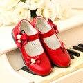 Sapatos de Couro das crianças Desempenho Meninas Vestido de Outono Nova Marca de Moda 3 Cores Princesa Crianças Meninas Sapatos De Casamento