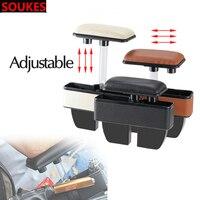 Adjustable Leather For VW Passat B5 B6 Polo Golf 4 5 Chevrolet Cruze Lada Granta RAM Car Center Console Armrest Storage Box