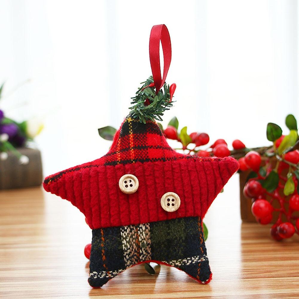 White Christmas Decoration Christmas Ornaments Gift Cloth Santa Claus Toy  Doll Hang Decorations Xmas Enfeites Arvore De Natal@gh