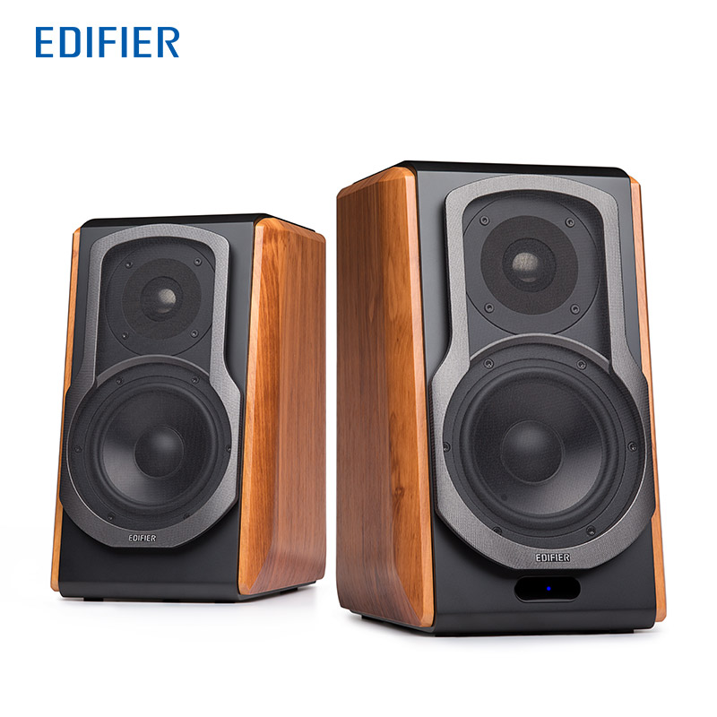 Edifier S1000DB Hi-Fi Bluetooth Speakers 2.0 Active Bookshelf Speaker Advanced Titanium Dome Tweeter Home Theatre Speakers