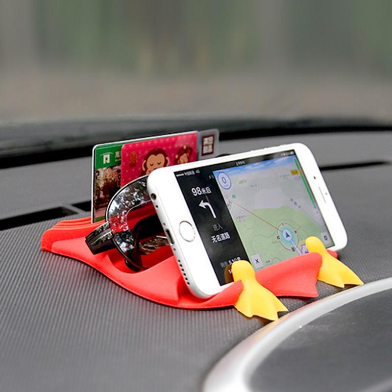 silikonowa mata antypoślizgowa do samochodu, uchwyt na deskę - Akcesoria do wnętrza samochodu - Zdjęcie 3