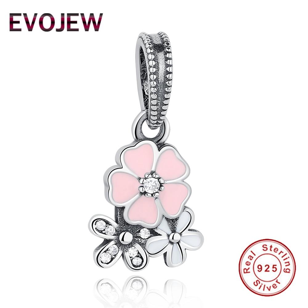 925 Sterling Silver Spring Flowers Poetic Blooms Charms Fit Original