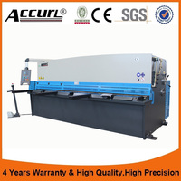 Accurl CNC Controller Hydraulic Swing Beam Sheet Plate Aluminum Shearing Cutting Machine