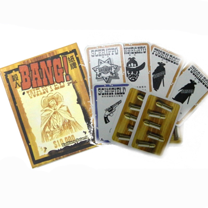 Bang Board Game 4-7 Players Chinese Version Family Board Game