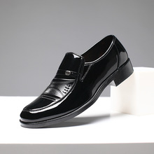 Luxury brand PU Leather Fashion Men Business Dress Loafers Pointy Black Shoes Oxford Breathable Formal Wedding Shoes 2018 new