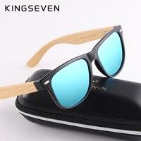 KINGSEVEN New Upgrade Women Bamboo Sunglasses Men Polarized Wood Retro Vintage Sun Glasses Driving Eyewear Shades