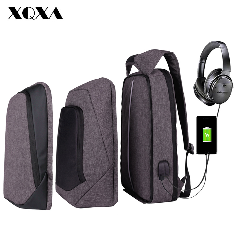 XQXA Laptop Backpack Men/Women USB Anti Theft Computer Bag Water-resistent College School Backpack Unsex 17.3 Laptop Bagpack men backpack anti theft multifunctional oxford fashion college student school backpack password lock laptop computer bag