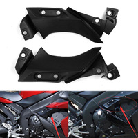 Unpainted Motorcycle Side Mid Air Dust Cover Case Panel Fairing Cowl For Yamaha YZF R1 2004 2005 2006 YZF R1 YZFR1 Black