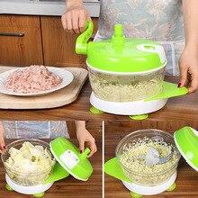 Multi-function Kitchen Manual Food Processor Household Meat Grinder Vegetable Chopper Beef Quick Shredder Cutter Egg Blender
