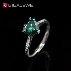 GIGAJEWE-bague en argent plaqué or blanc 18K, bijou pour femme, diamant vert, 1,3 ct, bijou pour femme, cadeau pour fille